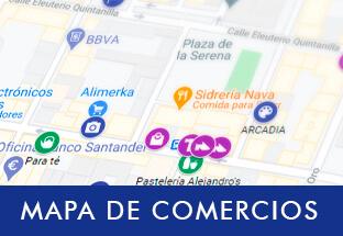 Mapa de comercios de Gijón